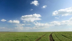 4K. Movement of clouds in the steppe, Rostov region, Russia, (Time Lapse)  Stock Footage