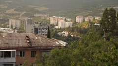 Midday in Yalta with view on South Coast highway Stock Footage