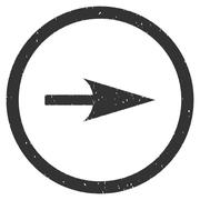 Sharp Right Arrow Icon Rubber Stamp Stock Illustration