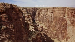Grand Canyon Aerial 07 Navojo Nation 4K Stock Footage