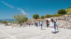 Selcuk Turkey Ephesus on Turkish Hillside Stock Footage