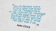 Golden Bible Verse, Acts 17-11 Stock Footage