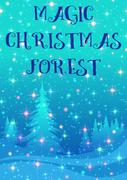 Christmas Background, Winter Forest Stock Illustration