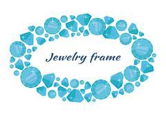 Round Frame Made of Diamonds Stock Illustration