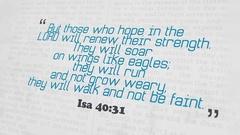 Golden Bible Verse, Isa 40-31 Stock Footage