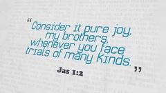 Golden Bible Verse, Jas 1-2 Stock Footage
