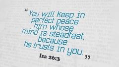 Golden Bible Verse, Isa 26-3 Stock Footage