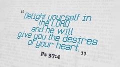 Golden Bible Verse, Ps 37-4 Stock Footage
