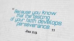 Golden Bible Verse, Jas 1-3 Stock Footage