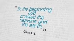 Golden Bible Verse, Gen 1-1 Stock Footage