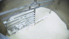 Mixer for milk production Stock Footage