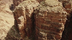 Grand Canyon Aerial 16 Navajo Nation 4K Stock Footage