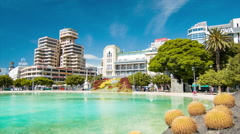 Tenerife Canary Islands Scenic City Center Scene at Plaza Espana Stock Footage