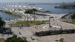 Rio de Janeiro City Center Tram VLT Stock Footage