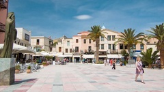 Chania Crete Greece Old Town Square Stock Footage