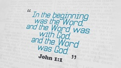 Golden Bible Verse, John 1-1 Stock Footage