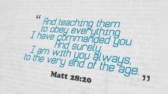 Golden Bible Verse, Matt 28-20 Stock Footage