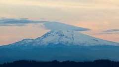 Time lapse movie of moving clouds over Mt. Hood in Happy Valley OR 4k Uhd Stock Footage