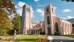 Chapel of the Cross in Chapel Hill North Carolina Stock Footage