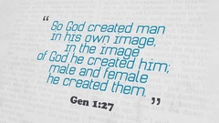 Golden Bible Verse, Gen 1-27 Stock Footage