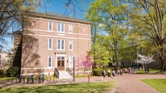 Carolina Hall Exterior at UNC Chapel Hill Stock Footage
