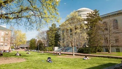 Wilson Library at University of North Carolina Chapel Hill Stock Footage