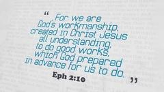 Golden Bible Verse, Eph 2-10 Stock Footage