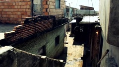 Hall of a Shanty Town Stock Footage