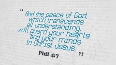 Golden Bible Verse, Phil 4-7 Stock Footage