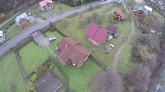 Aerial view of the Carpathian village Stock Footage