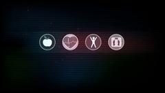 Healthy living symbols Stock Footage