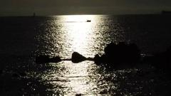 Sea and Sun - Boat crosses. Tyrrhenian coast Stock Footage