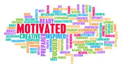 Motivated Word Cloud Concept Stock Illustration