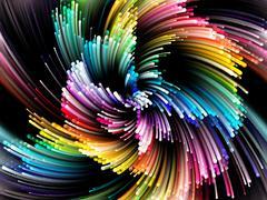 Accidental Vibrant Circle Stock Illustration