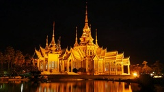 4k day to night Time-lapse of  of Wat Luang Pho Toh temple Stock Footage