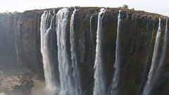 Aerial view of Victoria Falls, Africa Stock Footage