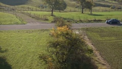 Video of sport car in countryside. Stock Footage