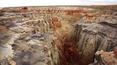 Rock Formation Canyon Aerial 01 Hoodoos 4K Stock Footage
