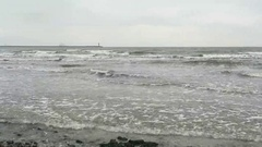 Baltic sea beach of Neu Mukran (Mecklenburg-Vorpommern, Germany) Stock Footage