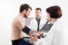 Cardiac stress test Stock Photos
