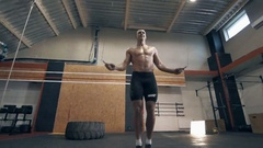 Jump rope exercise Stock Footage