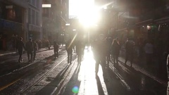 Istanbul istiklal street view of people  Stock Footage