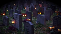 All Saints' Day 2016 in Stockholm, Sweden Stock Footage