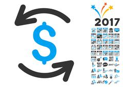 Refresh Balance Icon With 2017 Year Bonus Symbols Stock Illustration