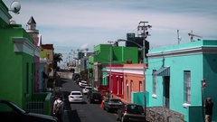 Colourful Bokaap street time lapse Stock Footage