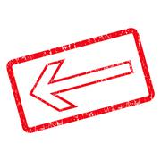 Arrow Left Icon Rubber Stamp Stock Illustration
