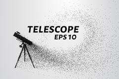 The telescope of the particles. The telescope consists of small circles and d Stock Illustration