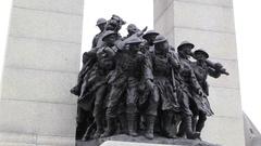 Canada's War Memorial Stock Footage