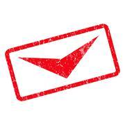 Arrowhead Down Icon Rubber Stamp Stock Illustration