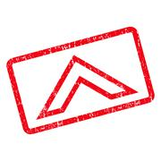 Arrowhead Up Icon Rubber Stamp Stock Illustration